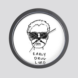 """""""Early Drug Lord"""" Wall Clock"""