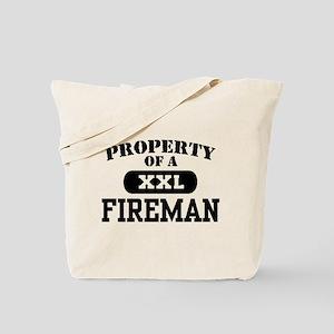 Property of a Fireman Tote Bag