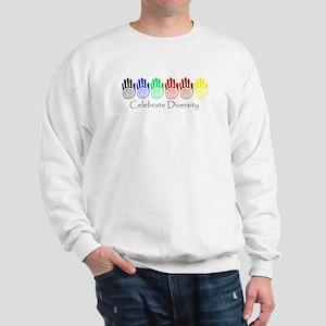 Celebrate Diversity Rainbow Hands Sweatshirt