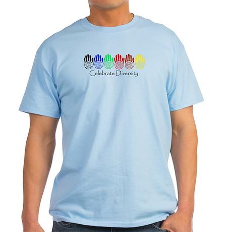 Celebrate Diversity Rainbow Hands Light T-Shirt