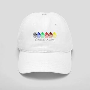 Celebrate Diversity Rainbow Hands Cap