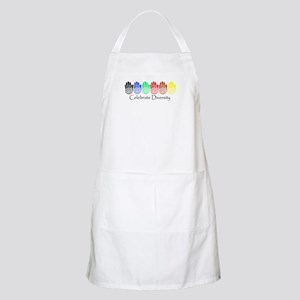 Celebrate Diversity Rainbow Hands BBQ Apron