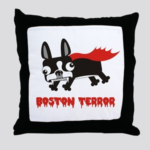 Boston Terror throw pillow