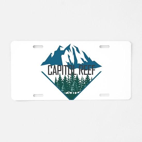 Capitol Reef - Utah Aluminum License Plate