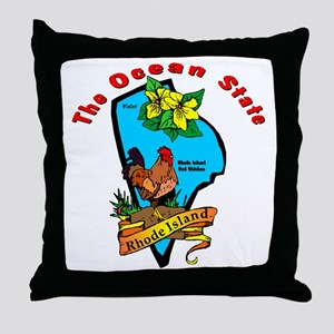 """Rhode Island Pride"" Throw Pillow"