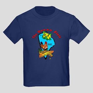 """""""Rhode Island Pride"""" Kids Dark T-Shirt"""