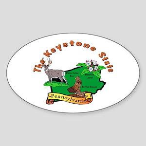 """""""Pennsylvania Pride"""" Oval Sticker"""