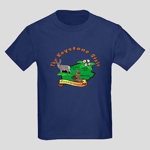 """""""Pennsylvania Pride"""" Kids Dark T-Shirt"""