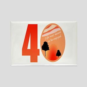 40th Birthday Gift Idea Rectangle Magnet