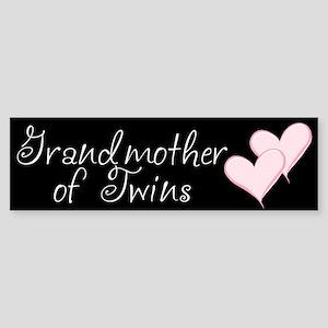 Grandmother of Twins Bumper Sticker