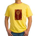 Tennis Racket Yellow T-Shirt (Brown)