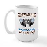 Birdwatching Way of Life Large Mug