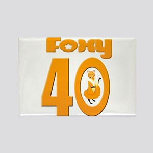 Foxy 40 Rectangle Magnet