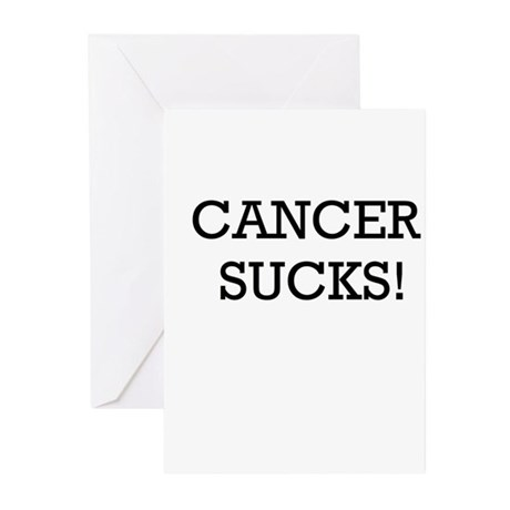 Cancer Sucks Greeting Cards (Pk of 20)