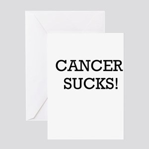Cancer Sucks Greeting Card