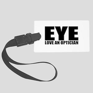 cute optician Large Luggage Tag