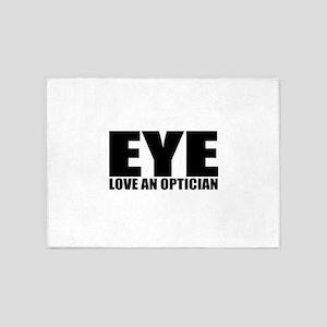 cute optician 5'x7'Area Rug