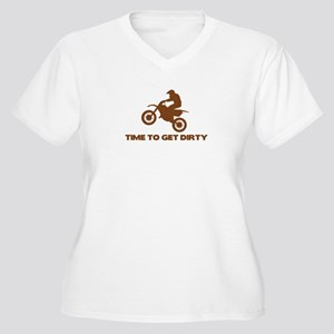Time to Get Dirty Women's Plus Size V-Neck T-Shirt