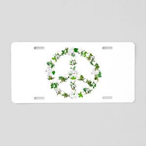 Peace Birds Aluminum License Plate