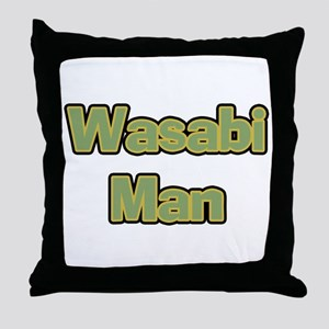 Wasabi Man Throw Pillow
