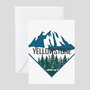 Yellowstone - Wyoming, Montana, Ida Greeting Cards
