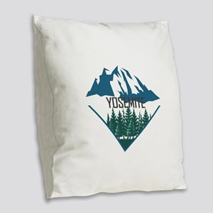Yosemite - California Burlap Throw Pillow
