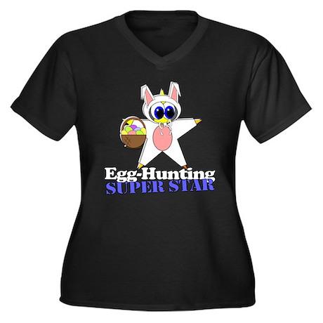 Easter Egg Hunt Women's Plus Size V-Neck Dark T-Sh