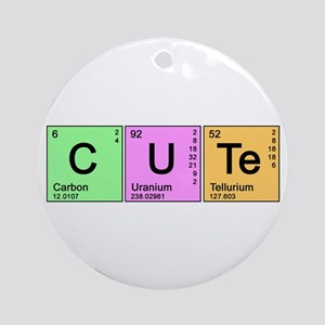 Cute Periodic Ornament (Round)