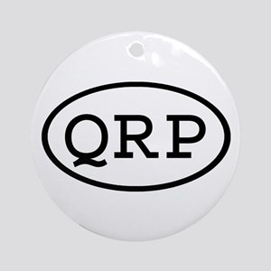 QRP Oval Ornament (Round)