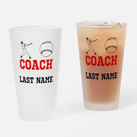 Baseball Coach Drinking Glass