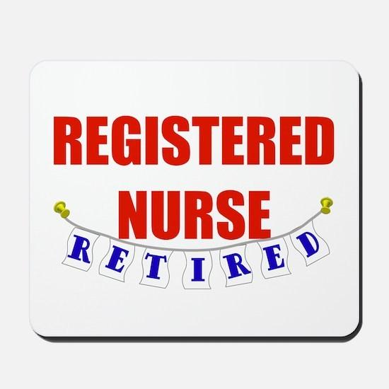 Retired Registered Nurse Mousepad