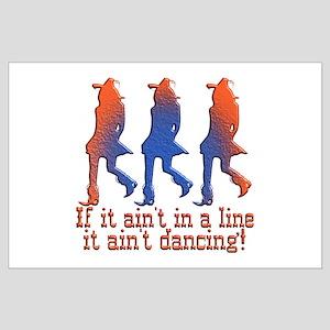Line Dancing Large Poster