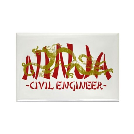 Dragon Ninja Civil Engineer Rectangle Magnet