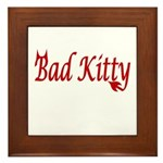 Bad kitty Framed Tile