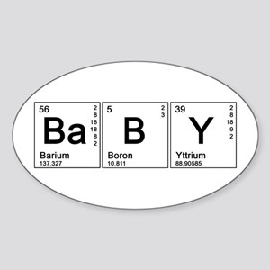 Periodic Baby Oval Sticker