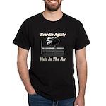 Beardie Agility-Hair in the Air Dk Shirt