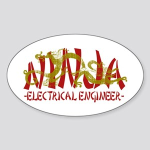 Dragon Ninja EE Oval Sticker