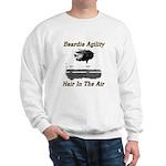 Beardie Agility-Hair in the Air Sweatshirt