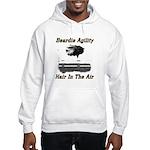 Beardie Agility-Hair in the Air Hooded Sweatshirt