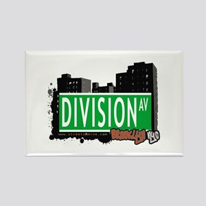 DIVISION AV, BROOKLYN, NYC Rectangle Magnet