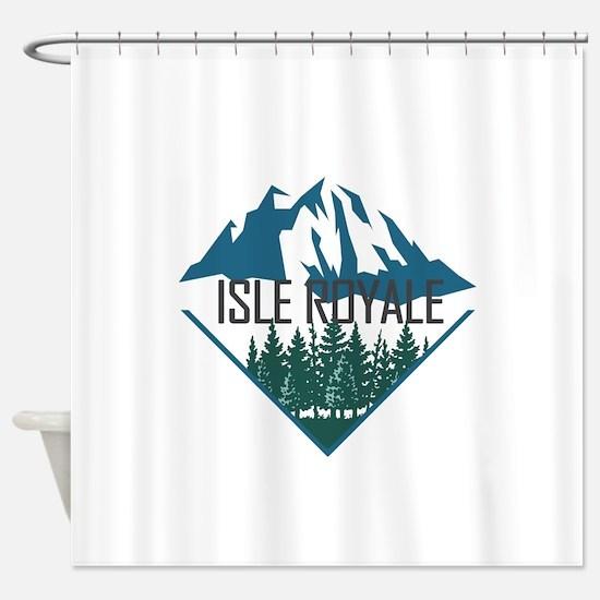Isle Royale - Michigan Shower Curtain