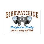 Birdwatching Way of Life Mini Poster Print
