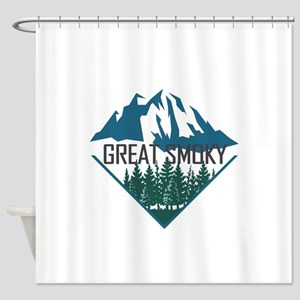 Great Smoky Mountains - Tennessee, Shower Curtain