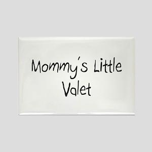 Mommy's Little Valet Rectangle Magnet