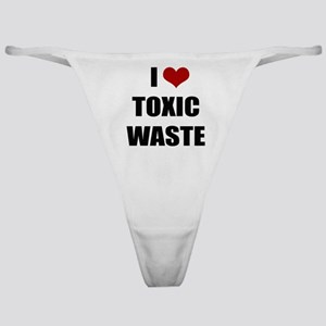 Real Genius - I Love Toxic Waste Classic Thong