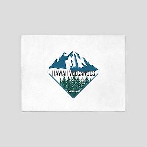 Hawaii Volcanoes - Hawaii 5'x7'Area Rug