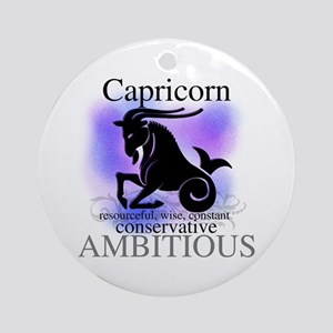 Capricorn the Goat Ornament (Round)