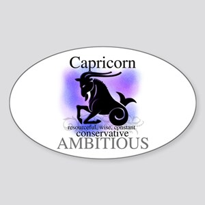 Capricorn the Goat Oval Sticker