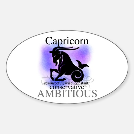 Capricorn the Goat Oval Decal