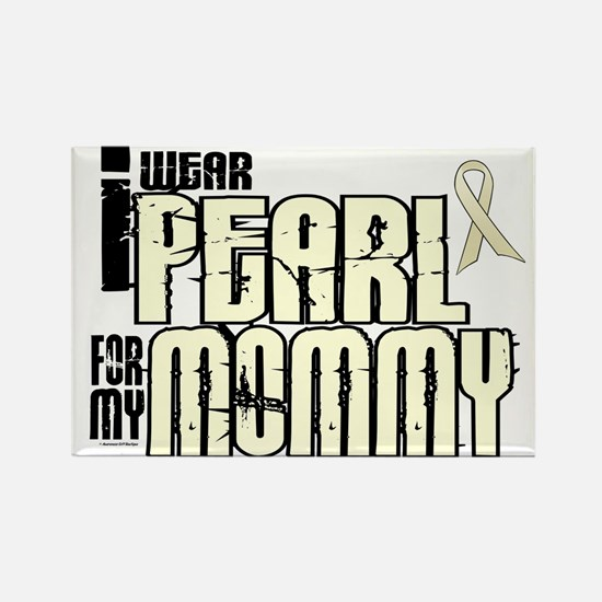 I Wear Pearl For My Mommy 6 Rectangle Magnet